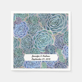 Succulents Paper Napkin For Special Events