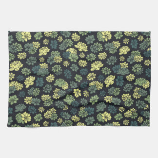 Succulents Pattern Kitchen Towel
