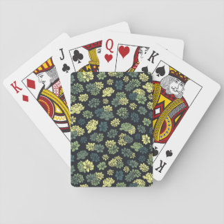 Succulents Pattern Playing Cards