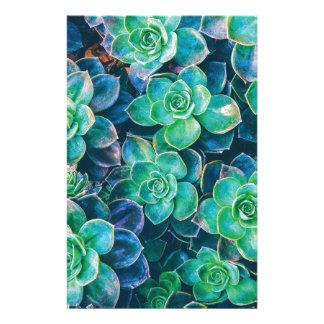 Succulents, Succulent, Cactus, Cacti, Green, Plant Stationery