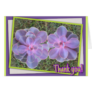 """Succulents Thank You Card Standard (5"""" x 7"""")"""