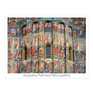 Sucevita Painted Monastery Postcard