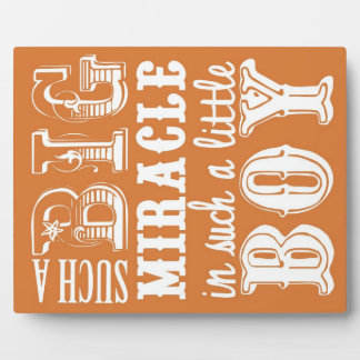 Such a big miracle is such a little boy plaque