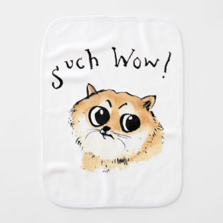 Such Wow! Doge Meme Burp Cloth