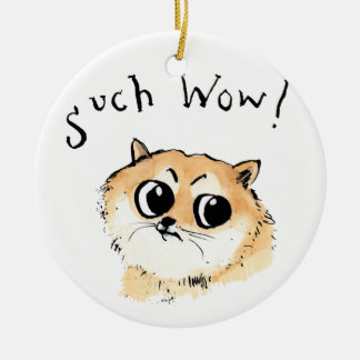 Such Wow! Doge Meme Ceramic Ornament