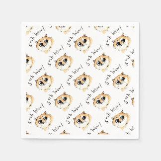 Such Wow! Doge Meme Disposable Napkin