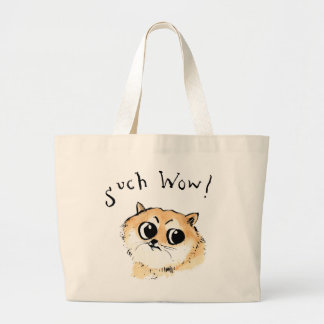 Such Wow! Doge Meme Large Tote Bag