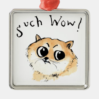 Such Wow! Doge Meme Metal Ornament
