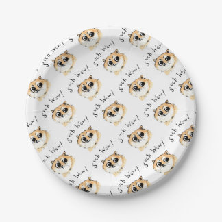 Such Wow! Doge Meme Paper Plate