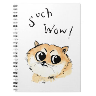 Such Wow! Doge Meme Spiral Notebook