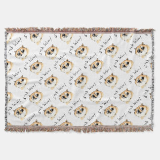 Such Wow! Doge Meme Throw Blanket