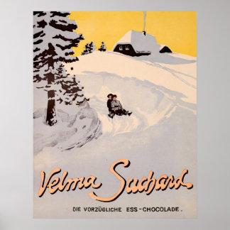 Suchard Velma, Die Vorzügliche Ess Chocolade Poster