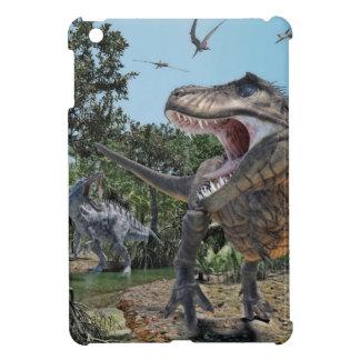 Suchomimus and Tyrannosaurus Meet iPad Mini Cover