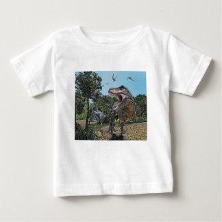 Suchomimus and Tyrannosaurus Rex Confrontation Baby T-Shirt