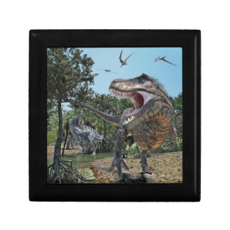 Suchomimus and Tyrannosaurus Rex Confrontation Gift Box