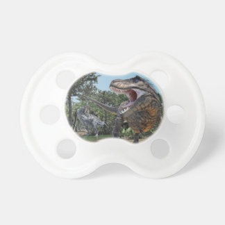 Suchomimus and Tyrannosaurus Rex Confrontation Pacifier