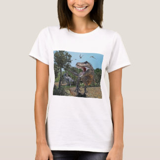Suchomimus and Tyrannosaurus Rex Confrontation T-Shirt