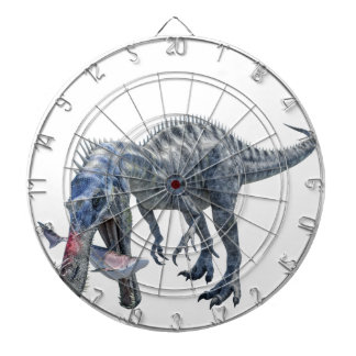 Suchomimus Dinosaur Eating a Shark Dartboard