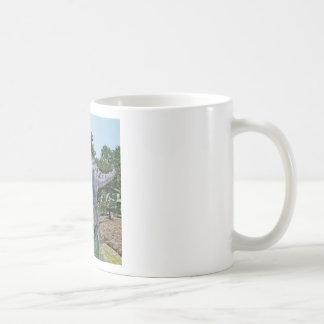 Suchomimus Dinosaur Eating a Shark in a Swamp Coffee Mug