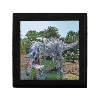 Suchomimus Dinosaur Eating a Shark in a Swamp Gift Box