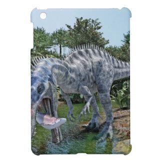 Suchomimus Dinosaur Eating a Shark in a Swamp iPad Mini Case