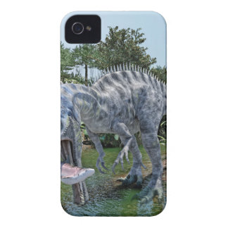Suchomimus Dinosaur Eating a Shark in a Swamp iPhone 4 Covers