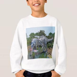 Suchomimus Dinosaur Eating a Shark in a Swamp Sweatshirt