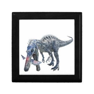 Suchomimus Dinosaur Eating a Shark Keepsake Boxes