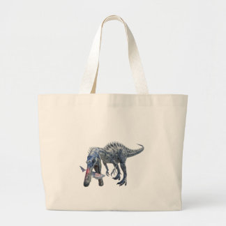 Suchomimus Dinosaur Eating a Shark Large Tote Bag