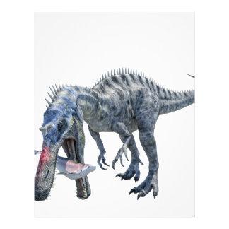 Suchomimus Dinosaur Eating a Shark Letterhead