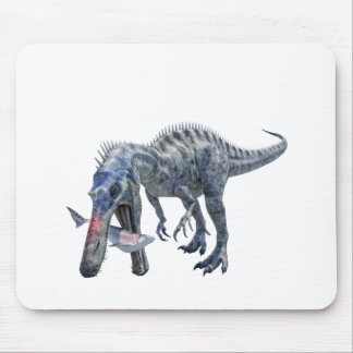 Suchomimus Dinosaur Eating a Shark Mouse Pad