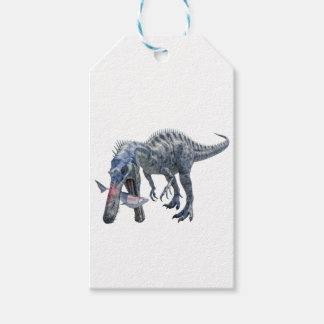Suchomimus Dinosaur Eating a Shark Pack Of Gift Tags