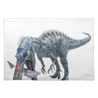 Suchomimus Dinosaur Eating a Shark Placemat