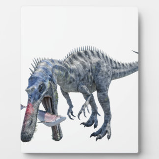 Suchomimus Dinosaur Eating a Shark Plaque