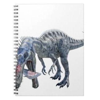 Suchomimus Dinosaur Eating a Shark Spiral Notebook