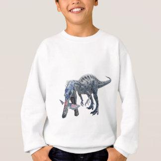 Suchomimus Dinosaur Eating a Shark Sweatshirt