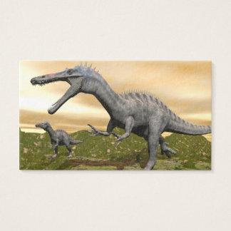 Suchomimus dinosaurs - 3D render Business Card