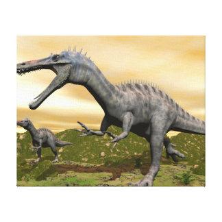Suchomimus dinosaurs - 3D render Canvas Print