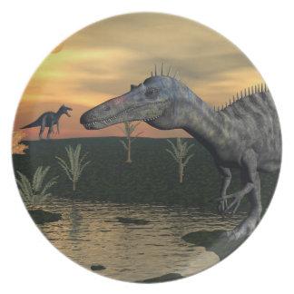 Suchomimus dinosaurs - 3D render Dinner Plates