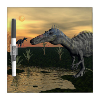 Suchomimus dinosaurs - 3D render Dry Erase Board