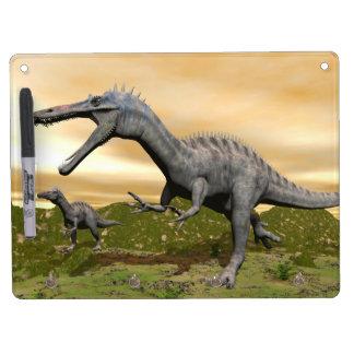 Suchomimus dinosaurs - 3D render Dry Erase Board With Keychain Holder