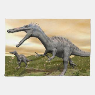 Suchomimus dinosaurs - 3D render Kitchen Towel