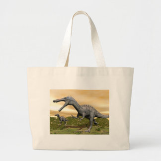 Suchomimus dinosaurs - 3D render Large Tote Bag