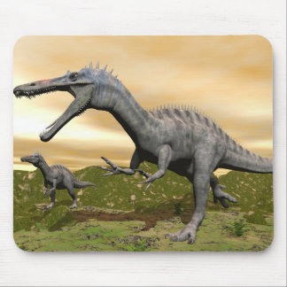Suchomimus dinosaurs - 3D render Mouse Pad