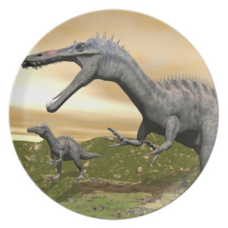 Suchomimus dinosaurs - 3D render Party Plate
