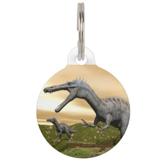 Suchomimus dinosaurs - 3D render Pet Name Tags