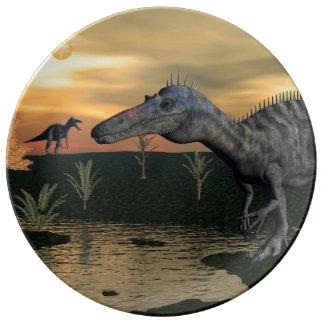 Suchomimus dinosaurs - 3D render Plate