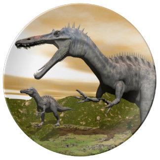 Suchomimus dinosaurs - 3D render Porcelain Plates