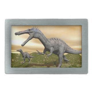 Suchomimus dinosaurs - 3D render Rectangular Belt Buckle