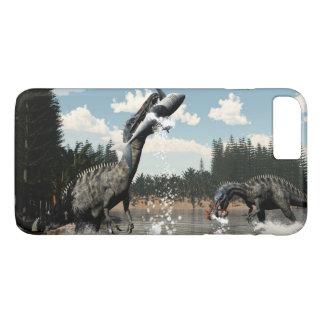 Suchomimus dinosaurs fishing fish and shark iPhone 8 plus/7 plus case